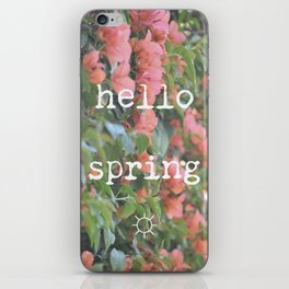 hello spring iPhone Skin