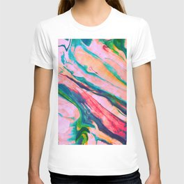 Bright and happy marble design T-shirt