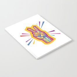 Raise a Peace Sign (Yellow Glow)  Notebook