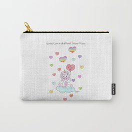 Spread Love in All Different Colors Carry-All Pouch