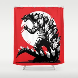 The end of the dinosaurs Shower Curtain