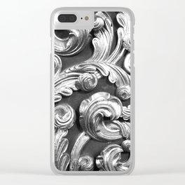 Decorative metalic foliage ornaments Clear iPhone Case