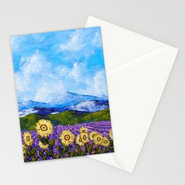 Sunflowers and Lavender In Provence Stationery Cards