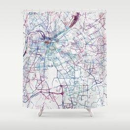 Louisville map Shower Curtain