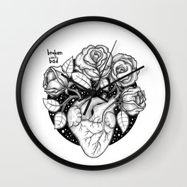 Blossom that Blooms in the Heart Wall Clock