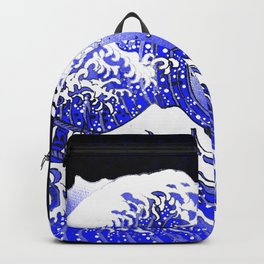 BLUE & WHITE HOKUSAI WAWE REBOOT Backpack