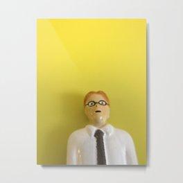 Yellow Accountant Metal Print