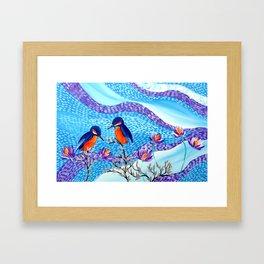 2 Kingfishers Framed Art Print