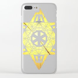 Metatron's Cube Time Wheel ~ Blast Off to Enlightenment Clear iPhone Case