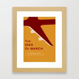 The Ides of March - MINIMALIST POSTER Framed Art Print
