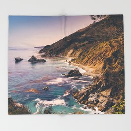Big Sur Pacific Coast Highway Throw Blanket