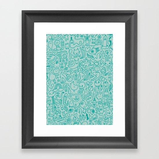 Chalk Doodle Framed Art Print