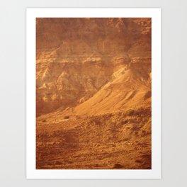 Mountain Texture Art Print