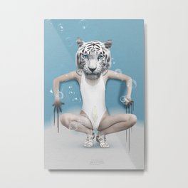 Dreamanimals - White Tiger Metal Print