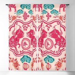 2021 Year of the Ox Chinese New Year Blackout Curtain