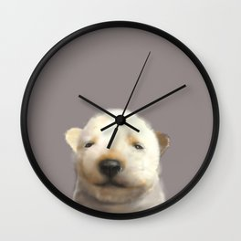 Jindo puppy runny nose Wall Clock