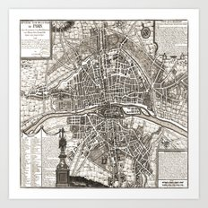 PARIS Old map Art Print