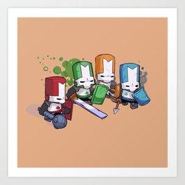 Castle Crashers Team Art Print