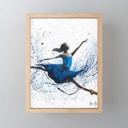 Blue Season Ballerina Framed Mini Art Print