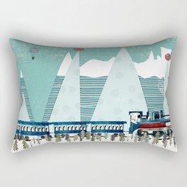 the penguin express Rectangular Pillow