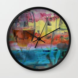 Cold drinks on the table Wall Clock