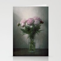 peonies Stationery Cards featuring Peonies by Pauline Fowler ( Polly470 )