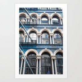 NY Blue Art Print
