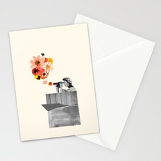 in bloom (black & white) Stationery Cards