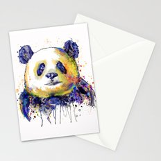 Colorful Panda Head Stationery Cards