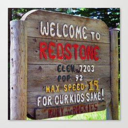 Welcome to Redstone Canvas Print