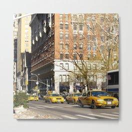 New York City cabs Metal Print