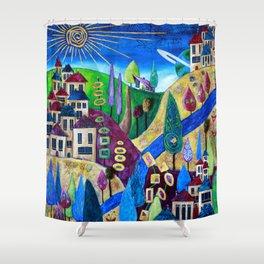 Delphi 4 Shower Curtain