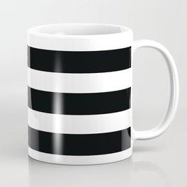 Black & White Stripes Coffee Mug