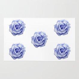 Ballpoint Blue Rose Rug