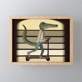 Scooterdile 2 Framed Mini Art Print