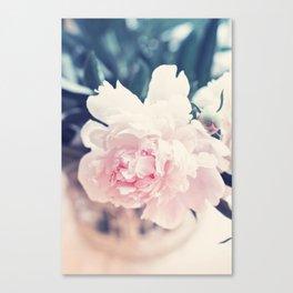 Beautiful Peony Flower Art Canvas Print