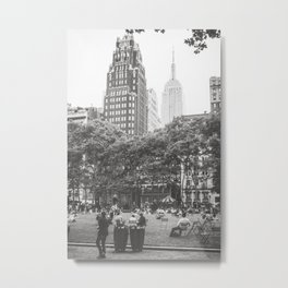Bryant Park NYC Photography Metal Print