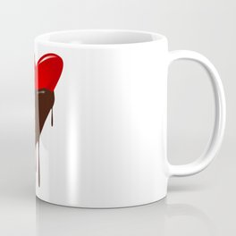Chocolate Dipped Heart Coffee Mug