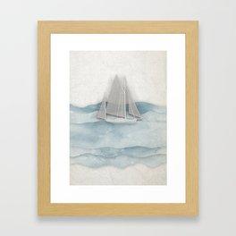 Floating Ship Framed Art Print