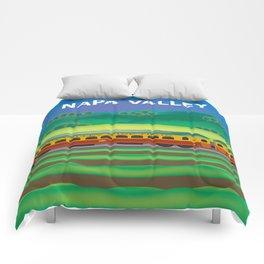 Napa Valley, California - Skyline Illustration by Loose Petals Comforters