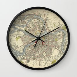 Map of St. Petersburg 1883 Wall Clock