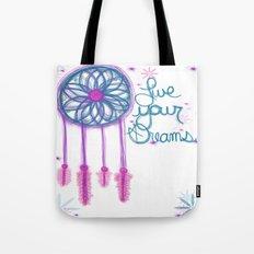 Live Your Dreams - White Tote Bag