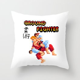 Ground Fighter Throw Pillow