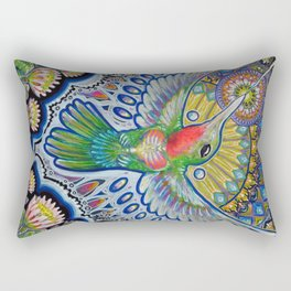 Hummingbird & Cactus - Beija Flor III Rectangular Pillow