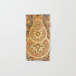 Triple Buddha Copper Mandala Hand & Bath Towel