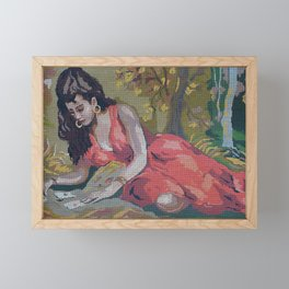 Gipsy Card Reader by Lika Ramati Framed Mini Art Print
