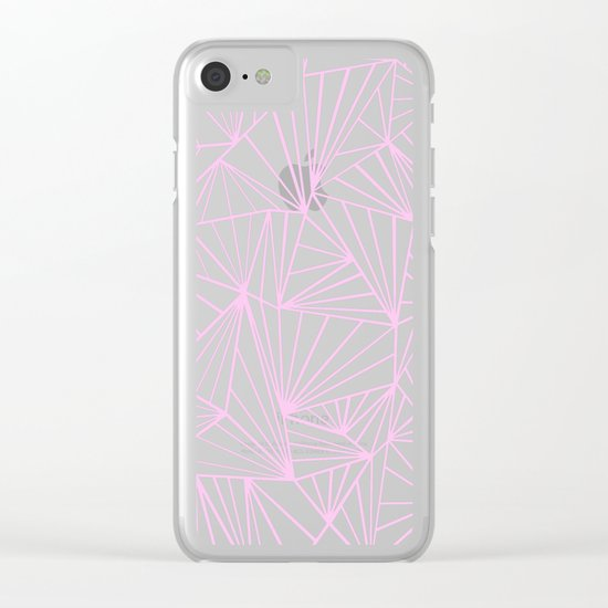 Ab Fan Pink Clear iPhone Case