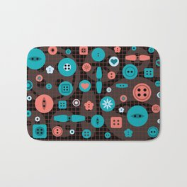 button it Bath Mat