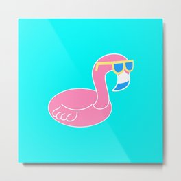 Cool Flamingo Metal Print