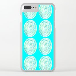 Tie Dye Kiwi Clear iPhone Case